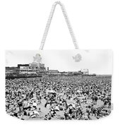 Crowds At Coney Island Beach Weekender Tote Bag