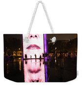 Crown Fountain Reflections Weekender Tote Bag