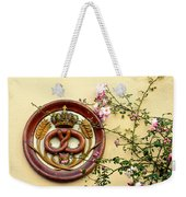 Crowned Pretzel Sign With Roses Weekender Tote Bag