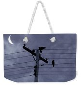 Crows And A Crescent Moon Weekender Tote Bag