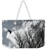Crows In Cottonwoods Weekender Tote Bag