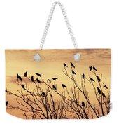 Crows In Their Twitter Cloud. Weekender Tote Bag