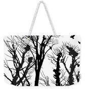 Crows Roost 1 - Black And White Weekender Tote Bag