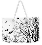 Crows Roost 2 - Black And White Weekender Tote Bag
