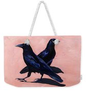 Crows Weekender Tote Bag by Sandi Baker