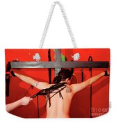 Crucified Young Man In A Bdsm Dungeon 7 Weekender Tote Bag