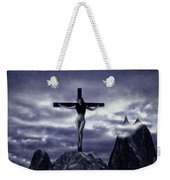 Crucifixion On The Mountain Weekender Tote Bag
