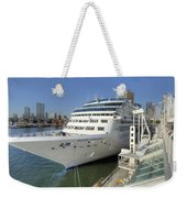 Cruise Ship At Canada Place Weekender Tote Bag