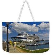 Cruise Ship In Bermuda Weekender Tote Bag