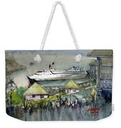 Sitting In The Dock Of The Bay, Kingstown, St Vincent  Weekender Tote Bag