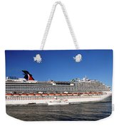 Cruise Ship Is Leaving The Port Weekender Tote Bag