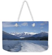 Cruise Ship Mountains Weekender Tote Bag