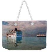 Cruise Ship Parking Weekender Tote Bag
