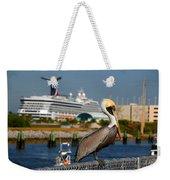 Cruising Pelican Weekender Tote Bag