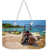 Crushed Tractor By The Sea On Island Prvic Weekender Tote Bag