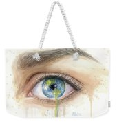 Earth In The Eye Crying Planet Weekender Tote Bag