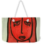 Crying Girl Weekender Tote Bag