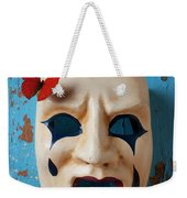 Crying Mask And Red Butterfly Weekender Tote Bag