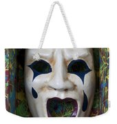 Crying Mask In Box Weekender Tote Bag by Garry Gay