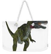Cryolophosaurus On White Weekender Tote Bag