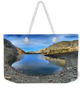 Crypt Lake Gold And Blue Weekender Tote Bag