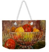 Crystal Bowl Of Fruit Weekender Tote Bag