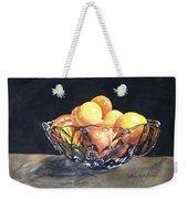 Crystal Bowl With Fruit Weekender Tote Bag