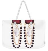 Crystal Earrings For Women Weekender Tote Bag