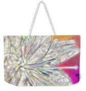 Crystal White Lily Weekender Tote Bag