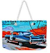 Cuba Antique Auto 1959 Fleetwood Weekender Tote Bag