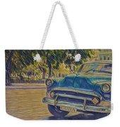 Cuba Car Weekender Tote Bag