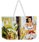 Cuba Holiday Isle Of The Tropics Vintage Poster Weekender Tote Bag
