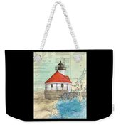 Cuckolds Lighthouse Me Nautical Chart Map Weekender Tote Bag