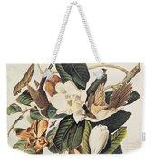 Cuckoo On Magnolia Grandiflora Weekender Tote Bag