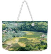 Cultivated Vineyards Tuscany  Italy Weekender Tote Bag