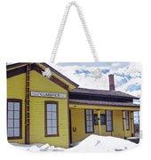 Cumbres Train Station Weekender Tote Bag