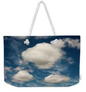 Cumulus Clouds With Nature Patterns Weekender Tote Bag