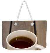 Cup Of Black Coffee On Bare Table Weekender Tote Bag