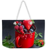 Cup Of Fresh Berries Weekender Tote Bag