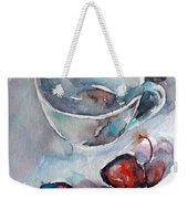 Cup With Cherry Weekender Tote Bag