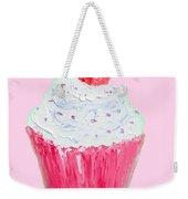 Cupcake Painting On Pink Background Weekender Tote Bag