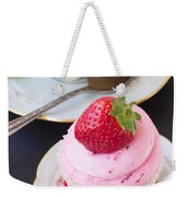 Cupcake With Strawberry Weekender Tote Bag