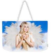 Cupid Angel Of Love Flying High With Fairy Wings Weekender Tote Bag