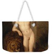 Cupid With A Lion Weekender Tote Bag