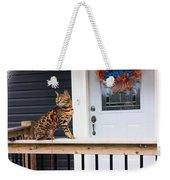 Curious Bengal Cat Weekender Tote Bag