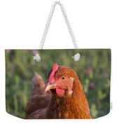 Curious Chicken Weekender Tote Bag