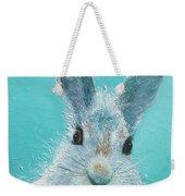 Curious Grey Rabbit Weekender Tote Bag