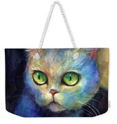 Curious Kitten Watercolor Painting  Weekender Tote Bag