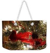 Curly Cardinal Weekender Tote Bag