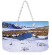 Currant Creek On Ice Weekender Tote Bag